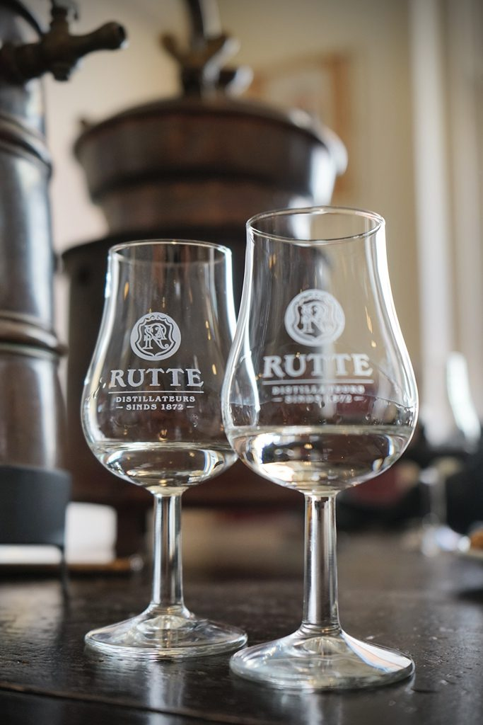 Sampling Genver at Rutte Distillery