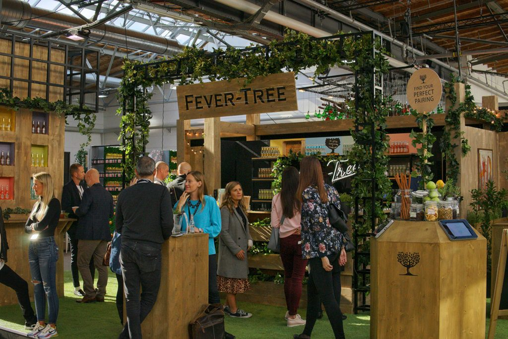 Fever-Tree booth at BCB 2019